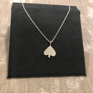 Dogeared sterling silver spade necklace